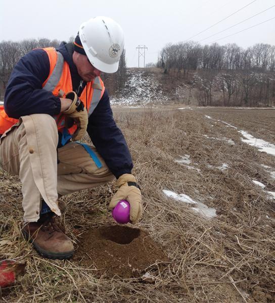 Deploying a 3M Ball Marker for Vegetation Management
